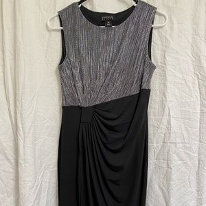 Cocktail Metallic Silver and Black dress